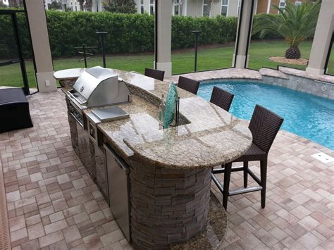 oval kitchen islands 6 beautiful outdoor bars premier outdoor living design