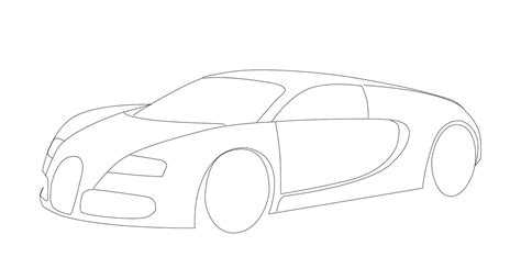 Bugatti veyron started life as 18 cylinder sketch on an envelope. Animate World: how to draw vector image of bugatti veyron