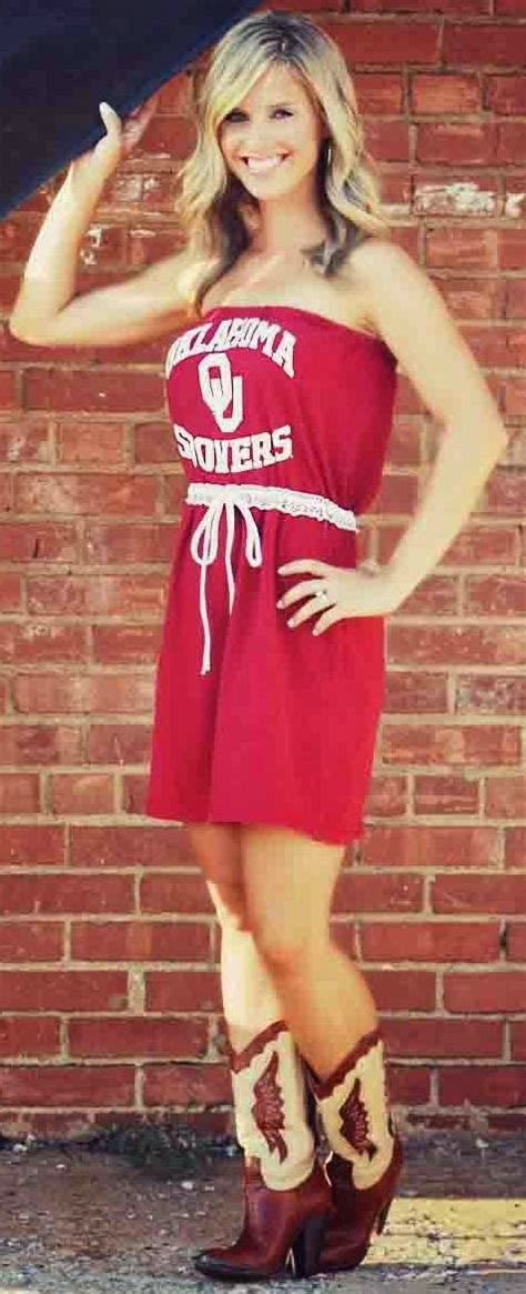 beauty babes red river rivalry babe  oklahoma