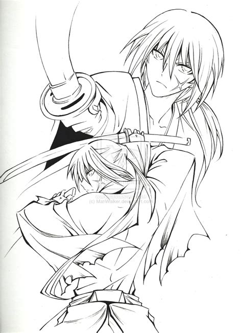 rurouni kenshin coloring pages coloring home