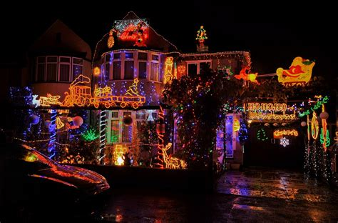 outdoor christmas strobe lights the families pulling out all the stops to turn their homes