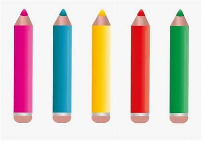 Paint Pencils Pens Colored Colour Cartoon Netclipart