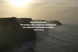 Hitting Rock Bo... Rock Foundation Quotes