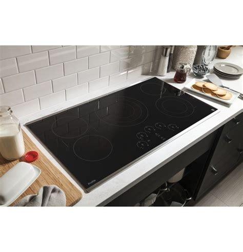 ge profile series  built  electric cooktop stainless steel  black  pacific sales