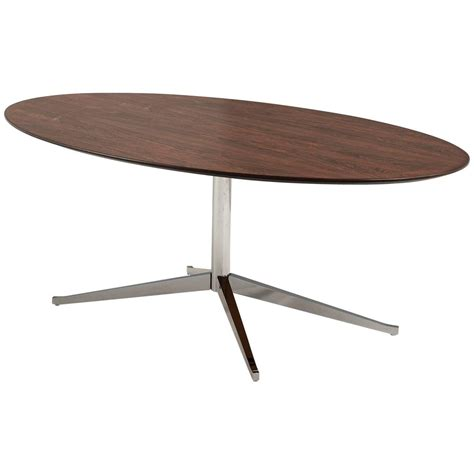 florence knoll oval shaped dining table  rosewood