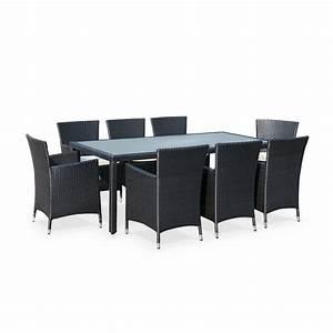 table de jardin en resine tressee topiwall With wonderful ensemble de jardin plastique 1 ensemble table ronde resine tressee avec 6 fauteuils