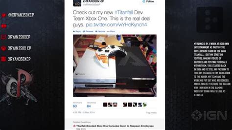 respawn employees get titanfall branded xbox one one