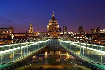 London Bridge Cathedral St Millennium England Paul