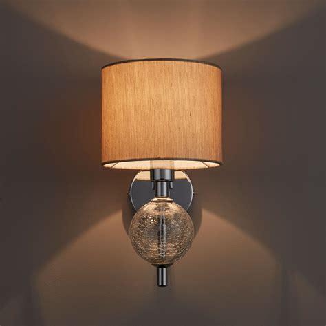 beige single wall light departments diy at b q