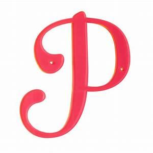 U0026 39 P U0026 39  Neon Calligraphy Letter