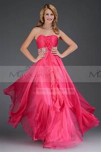 fleur azale fushia robe longue de soiree pour mariage pas cher With robe longue pour mariage pas cher