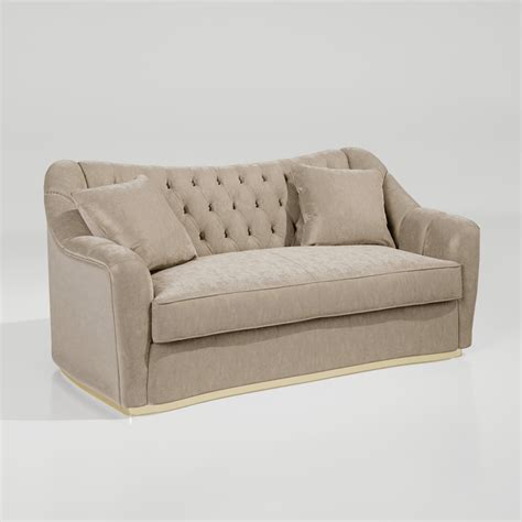 large designer deco style button upholstered sofa