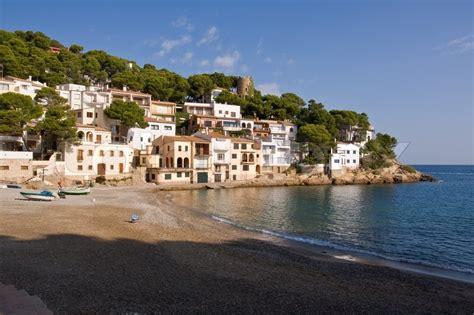Beautiful Small Village On The Coast Of Costa Brava, Stock