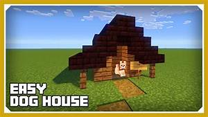 minecraft how to build a dog house kennel tutorial easy With how to build a dog house youtube
