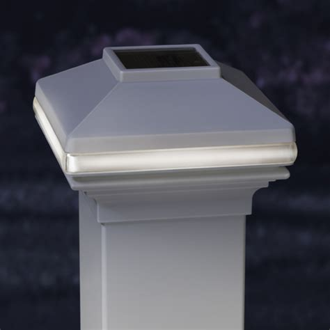 solar deck light white for 4 quot vinyl or metal posts