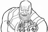 Thanos Coloring Infinity War Pages Printable Smiling Creepy Gauntlet Coloringonly Avengers Lego Marvel Spiderman Fans Dc Vs Template sketch template