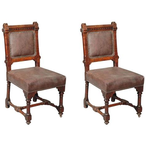 31554 arts and crafts style furniture splendid splendid pair of revival chairs with ivory