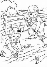Coloring Summer Farm Farming Colorear Verano Printable Dibujos Tulamama Chicken sketch template