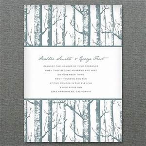 Diy winter birch trees wedding invitation styled 3 ways for Free printable tree wedding invitations