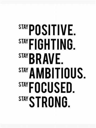 Positive Motivational Inspirational Stay Fitness Quote Printable
