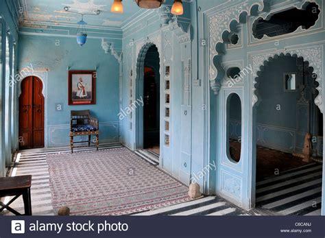 interior blue room  city palace udaipur rajasthan