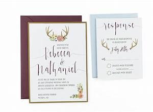 woodland watercolor wedding invitation template With free printable woodland wedding invitations