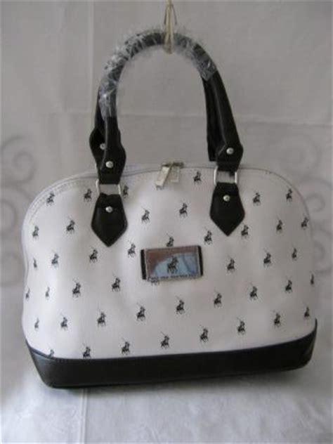 bid or bay handbags bags small polo handbag white and brown
