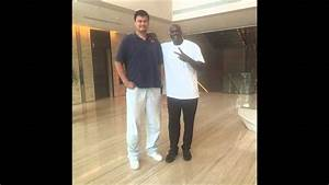 Shaquille O'Neal Meets Yao Ming- Is Ming Taller Than We ...