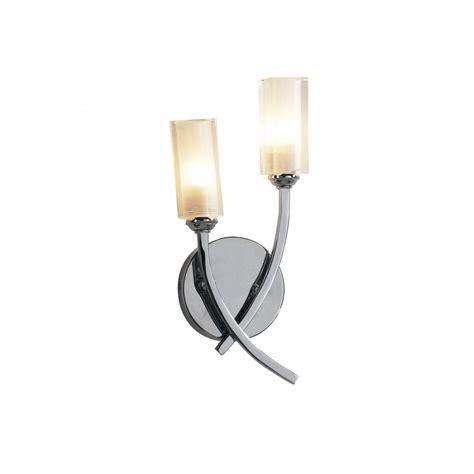 dar lighting morgan mor0950 polished chrome 2 light wall