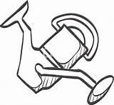 Reel Fishing Drawing Getdrawings Sketch sketch template