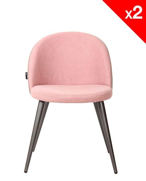 chaise metal vintage chaise vintage métal et tissu gaufré lot de 2
