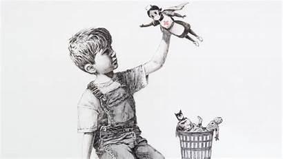 Banksy Hospital Piece Artist Appears Note Left