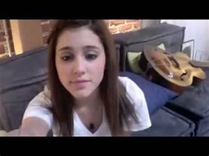 Ariana Grande saying hi to her friend Alexa - YouTube