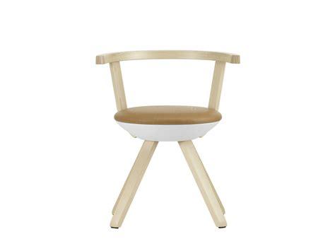 chaise rembourrée chaise rembourrée en bouleau de style contemporain rival