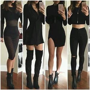 Jumpsuit all black everything dress black dress black jeans - Wheretoget