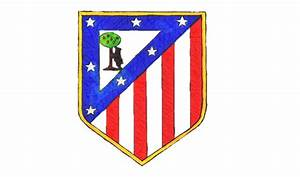 Como dibujar el escudo del Atlético de Madrid paso a paso ...