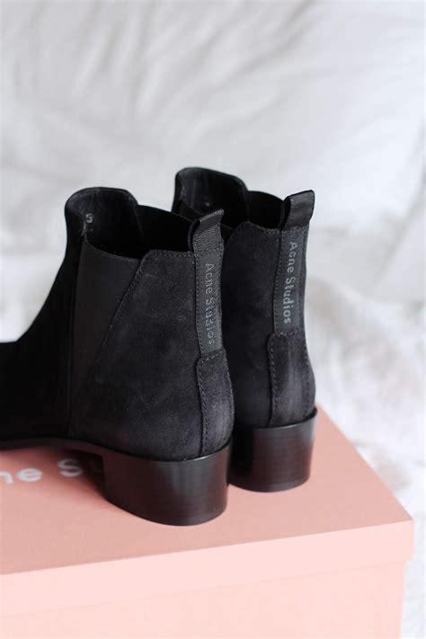 acne jensen boots  black suede  lovecats