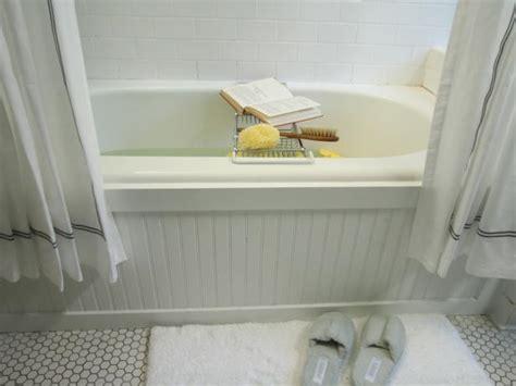 update  bathtub surround  beadboard hgtv