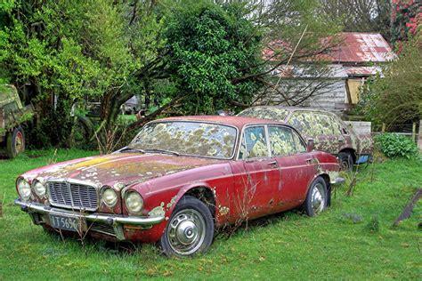 Old Car, Jaguar Xj6, Norsewood, Manawatu, New Zealand