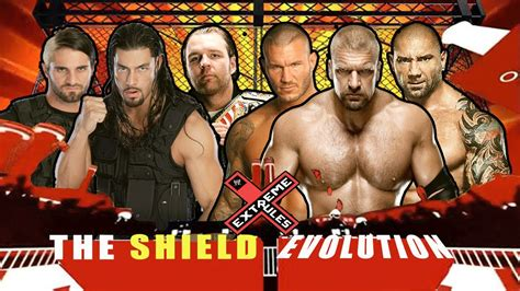 WWE Extreme Rules 2014 - The Shield vs Evolution - Full ...