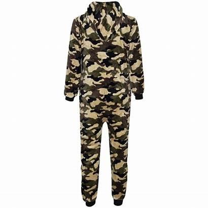 Boys Onesie Camouflage Fluffy Costume A2z Piece
