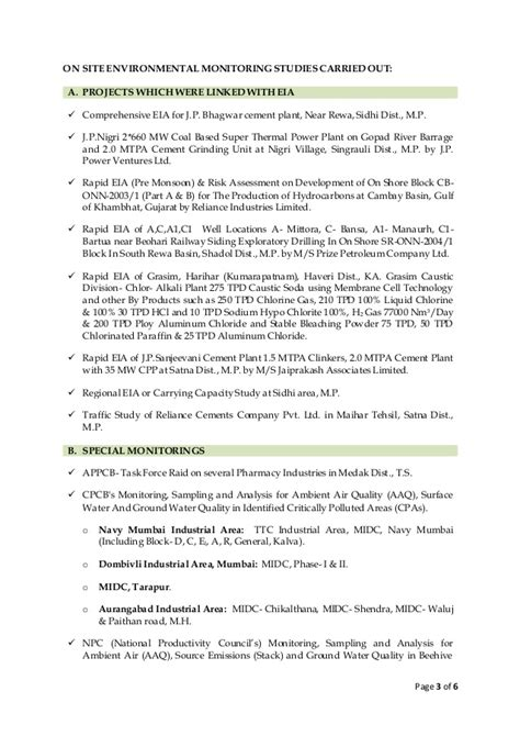 Environmental Scientist Resume Sle by Resume Environmental Scientist