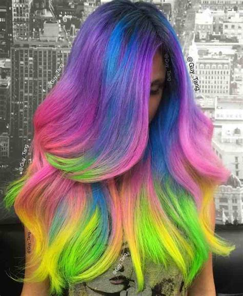 Unicorn Hair Color Semi Permanent Hair Dye Pictures