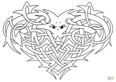 Celtic Heart Knot Pages Coloring Pages