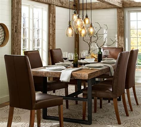 pottery barn kirkwood dining table griffin reclaimed wood dining table pottery barn