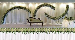 Wedding Ideas : Clean White Color Decoration Wedding Stage