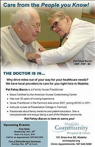 Bacon Chart Ad Featuring Nurse Practitioner Pat Fahey Bacon Family