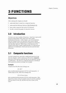 Composite Functions And Inverse Functions Worksheet For