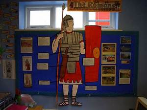 Romans Classroom Display from Tugby Church Of England ...