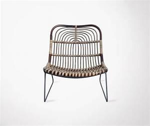 Chaise Exterieur Design : chaise d 39 ext rieur rotin et m tal design ethnique house doctor ~ Teatrodelosmanantiales.com Idées de Décoration